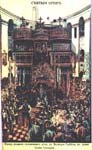 The Kuvuklia during litania of Holy Fire on a the picture of XIX c