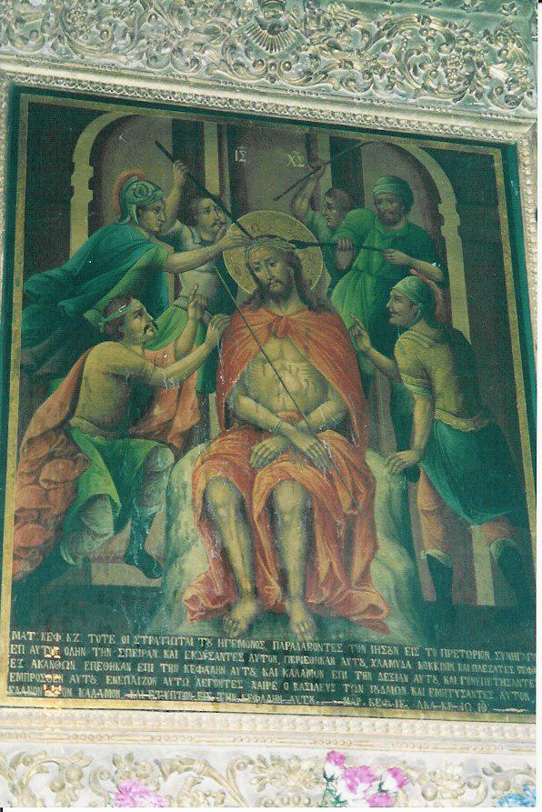 Bleeding of the icon of the Lord Christ in 2001 on the eve of Holy Fire rite