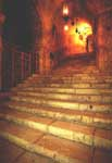Stairs leading to St. Helen Chapel and to the place of the Cross finding